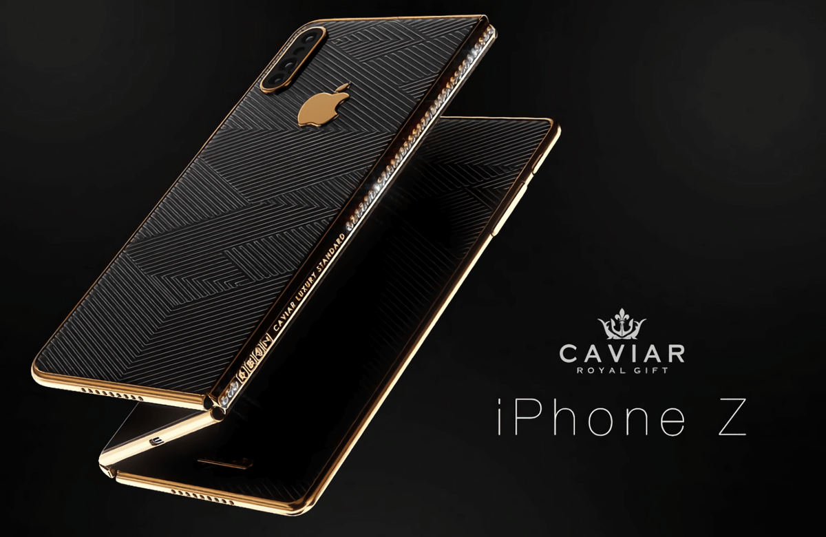 iPhone 11 Z concept foldable phone by Caviar
