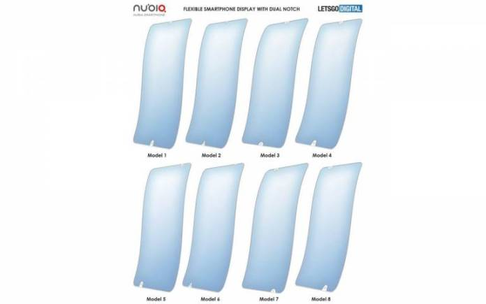Nubia foldable phone with flexible display designs illustrated