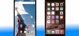 Tableau comparatif Google Nexus 6 Vs iPhone 6 plus