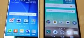 Mobile : Samsung Galaxy S6 vs LG G Flex2 vs LG G3