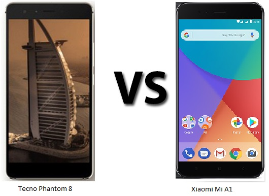 Tecno Phantom 8 vs Xiaomi Mi A1