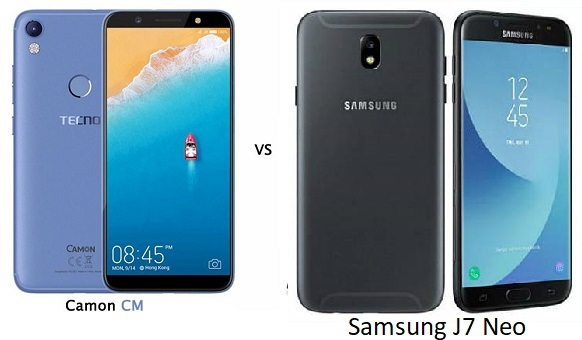Tecno Camon CM vs Samsung J7 Neo