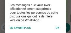 Whatsapp : Vous avez désormais une heure pour effacer un message