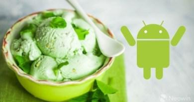 Android P Pistachio Ice Cream