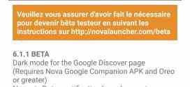 Nova Launcher 6.1 Beta : Des notifications en points et un mode sombre