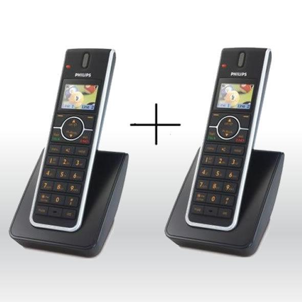 2 Philips DECT 6.0 SE6590B37 2 Line Accessory Handset for SE6581B SE6591B bg