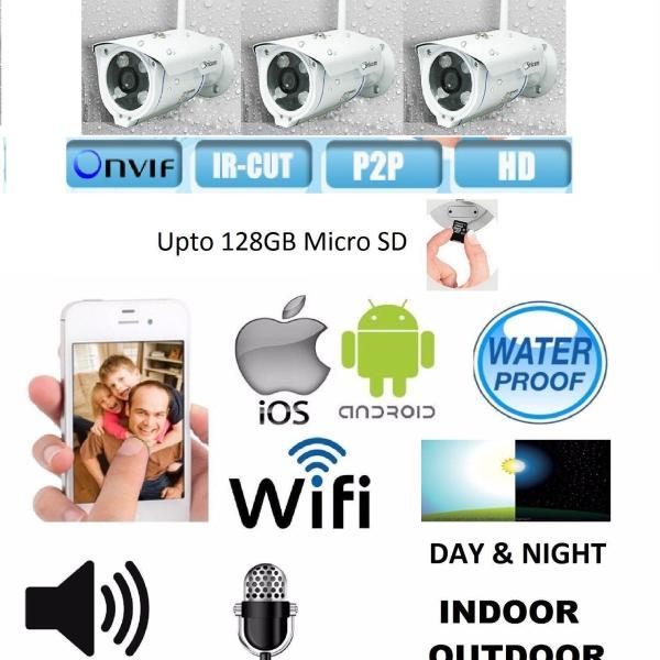 3 x HD Waterproof Onvif 2.4.2 WiFi IP Night Vision Security Camera SRICAM SP007