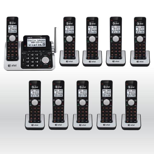 AT&T CL83201 CL83101 CL83301 CL83351 DECT 6.0 Cordless Phone System w 10 Handset bg