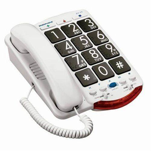 Ameriphone JV35 Phone 37-DB Braille JV-35 XL30 XL-30 Amplified extra loud phone