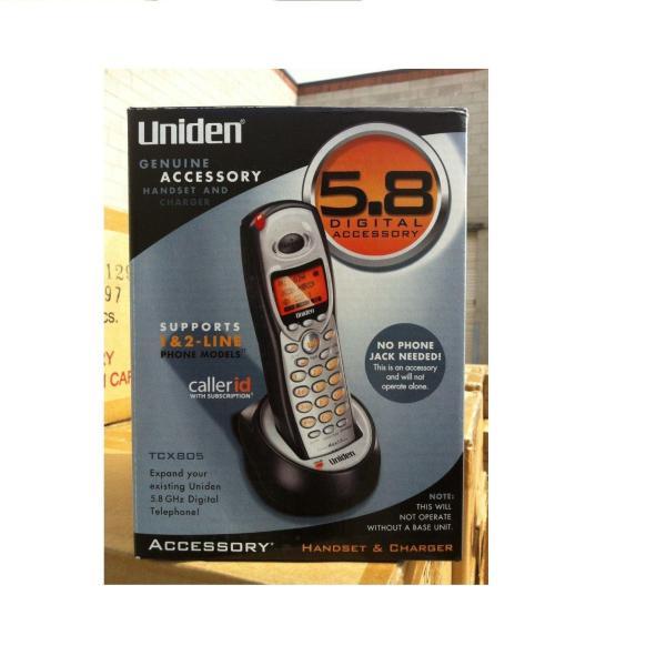 Uniden TCX805  TCX860 2 Line Expansion Handset for TRU8885 TRU8866 Complete