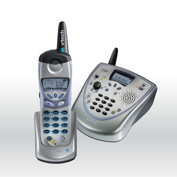 VTech i5881 5881 5.8 GHz DSS Expandable Cordless Speakerphone Answering System bg