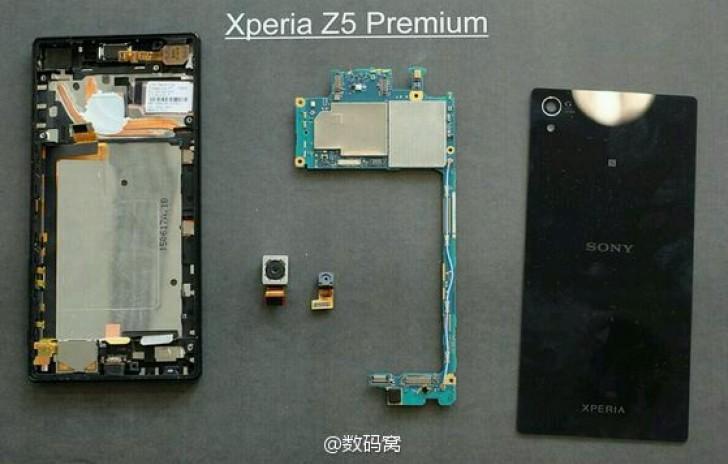 Sony Xperia Z5 Premium teardown reveals a dual heat pipe
