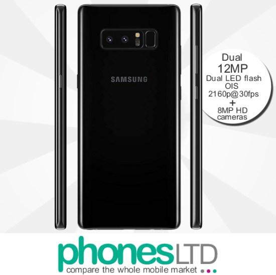 ec9da7704 Samsung Galaxy Note 8 64GB Midnight Black - Compare Cheapest UK ...