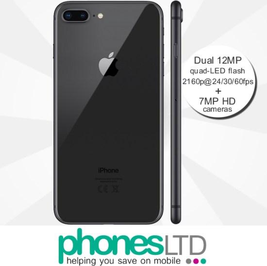 e2f4b9a5bdb Cheapest Apple iPhone 8 Plus 256GB O2 Upgrade Unlimited + 1GB at £30 ...