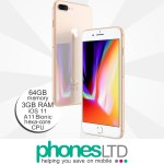 iPhone 8 Plus 64GB Gold upgrade deals