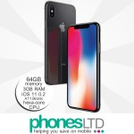 iPhone X 64GB Space Grey upgrade deals