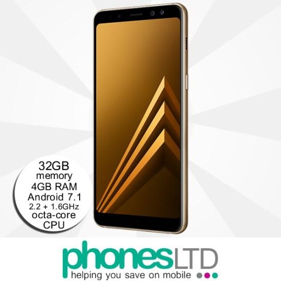 6347d97bb19 Compare Samsung Galaxy A8 Gold Pay As You Go Deals - Phones LTD