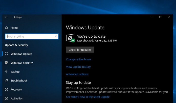 windows 10 october 2018 update direct download