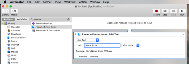 How to create simple, one-step taks in Automator to save you