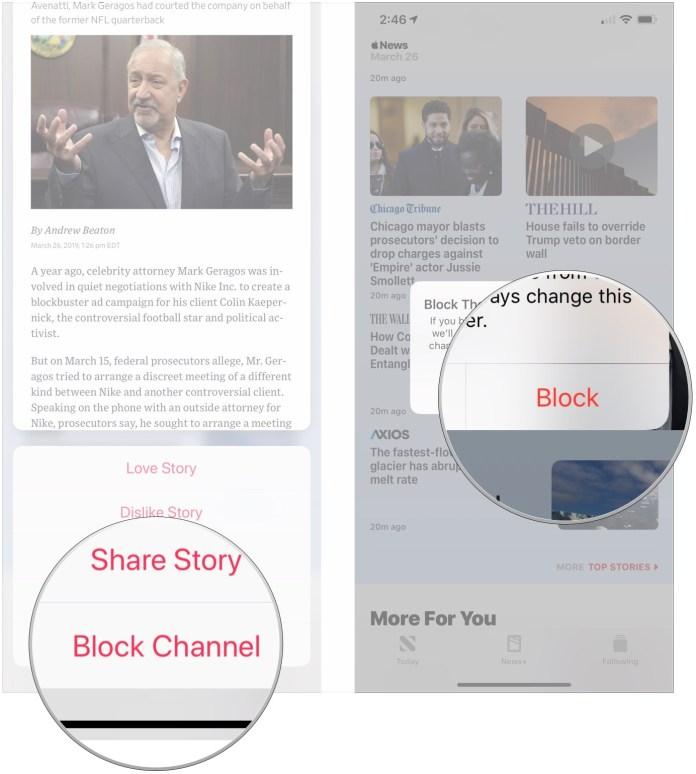 Tap Block Channel, tap Block