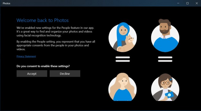 Privacy screen in Photos app
