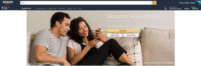 share your Amazon Prime account
