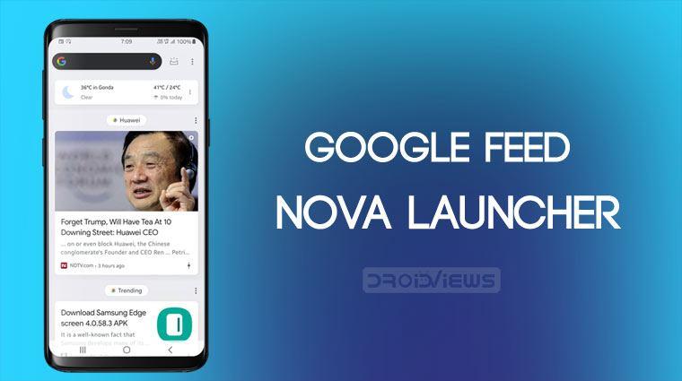 Enable Google Feed in Nova Launcher - Phoneweek