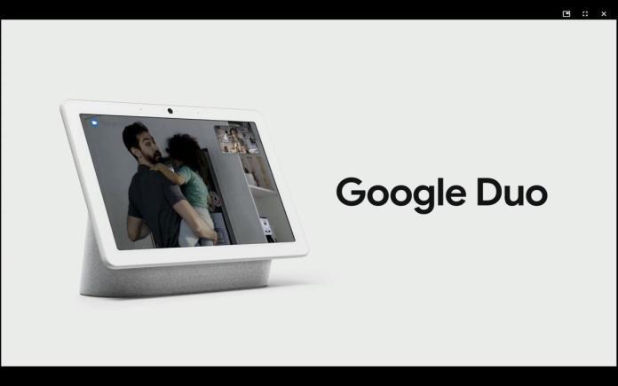 nest home hub max google duo