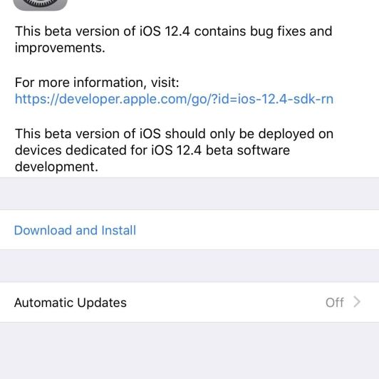 Apple Releases Fourth iOS 12.4 Developer Beta Today