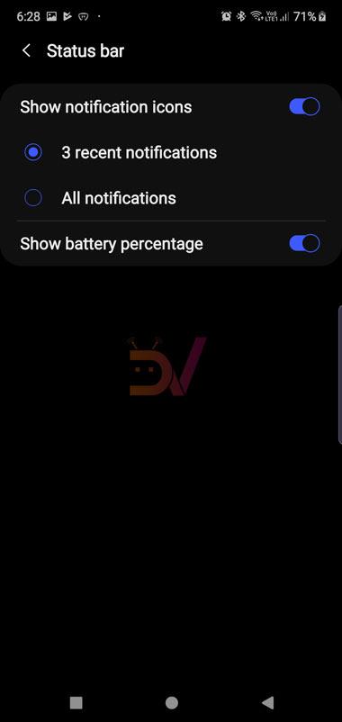 galaxy note 10 battery percentage