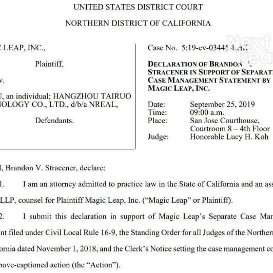 Magic Leap Lawsuit vs. Nreal Takes Major Step Forward After Legal Team Scours the Planet in Search of Elusive Founder