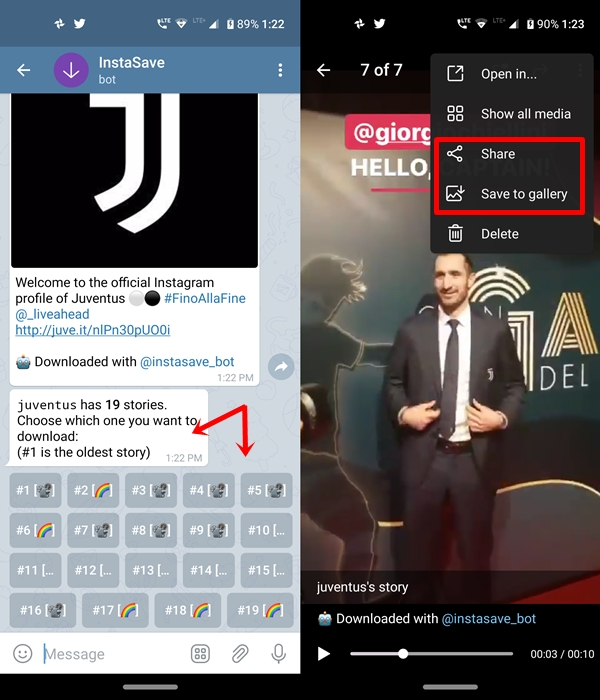download instagram story