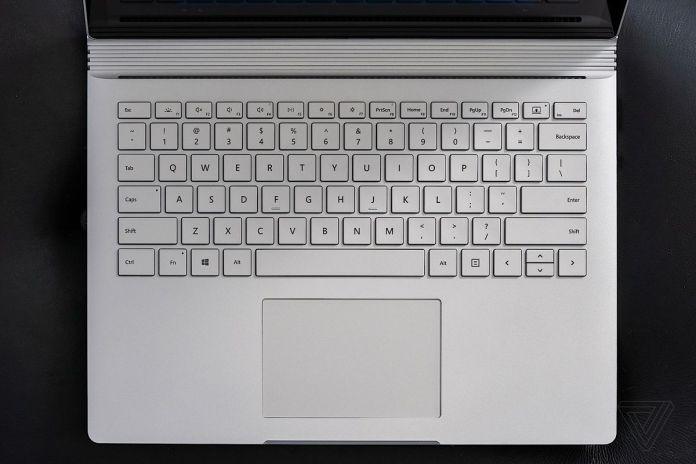 Surface Book 3 keyboard