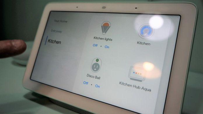 Google Home Hub interface