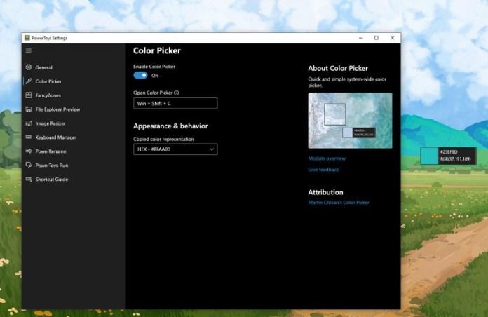 Powertoys Colorpicker