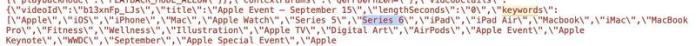 Apple Watch Series 6 YouTube metadata