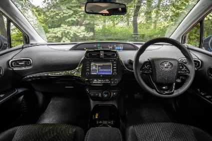 The low-slung driving position of the Toyota Prius adds to its sporty feel.