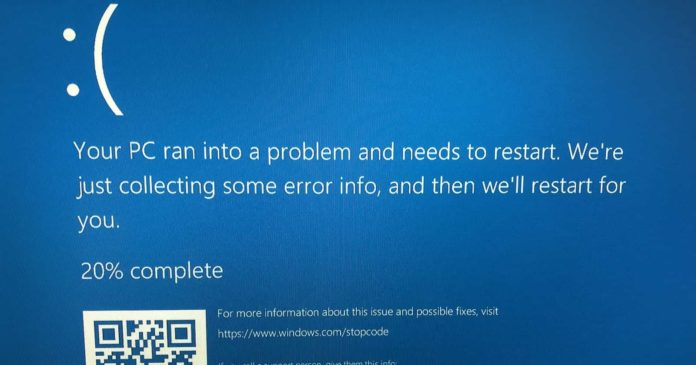 Windows 10 BSOD warning