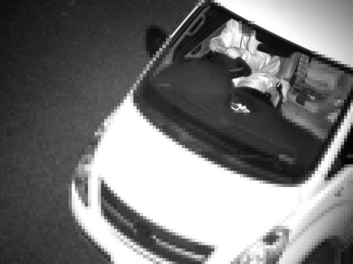 A car driver caught by covert camera without a seatbelt