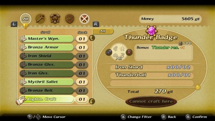 Final Fantasy Crystal Chronicles Remastered Edition Crafting