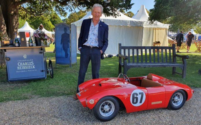 Adrian Donovan with Lancia junior car at2020 Concours of Elegance Junior Concours
