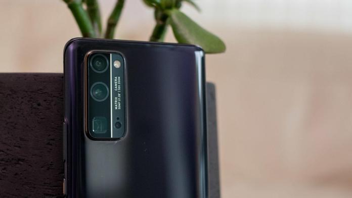 Honor 30 Pro+ black rear matrix camera