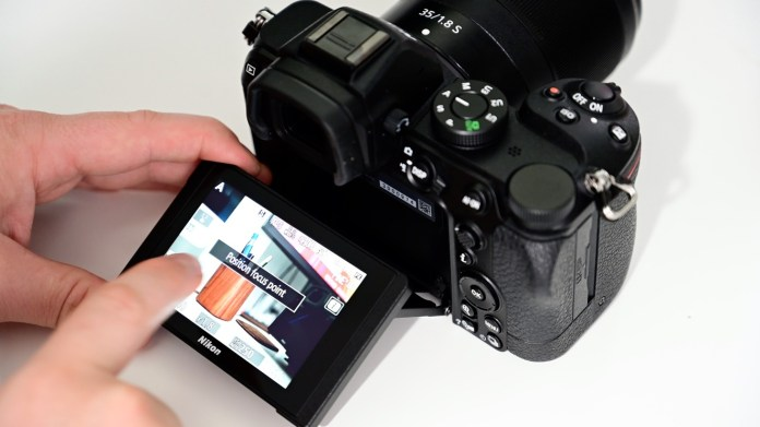 Tap to snap a pic with the Nikon Z5 touch screen
