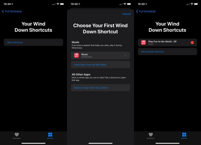 Set up Wind Down Shortcuts to create an automated pre-sleep routine.