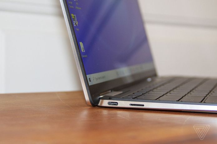 The right side of the Dell XPS 13 2-in-1.