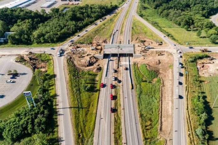 The 100th Street bridge over U.S.-131 in Kent County was rebuilt.