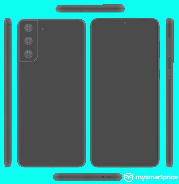 Samsung Galaxy S21 S30 Plus layout render leak MySmartPrice