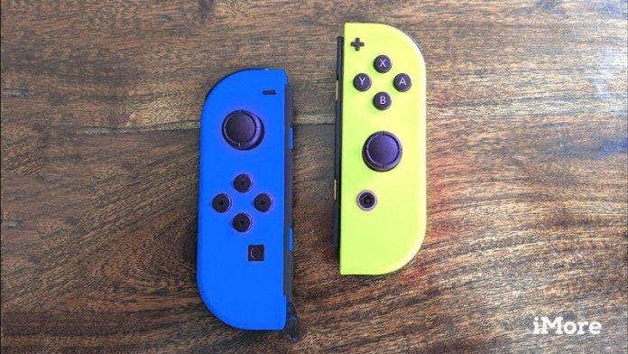 Blue And Neon Yellow Joy Con