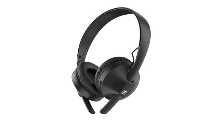 The Sennheiser HD 250BT Bluetooth on-ear headphones.