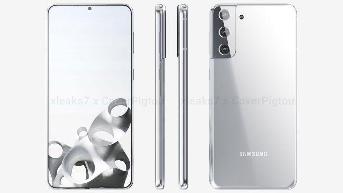Samsung Galaxy S21 S30 Plus front left right back render leak CoverPigtou